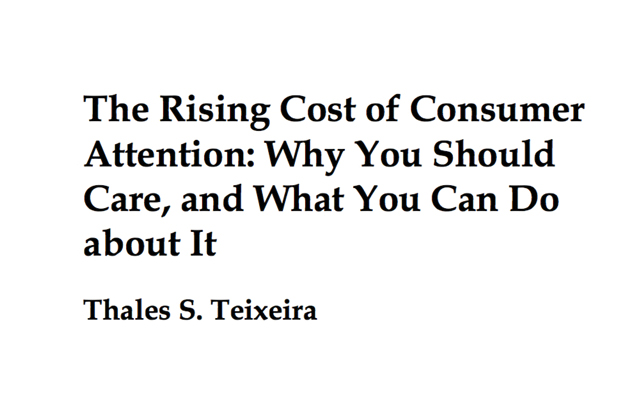 The rising cost od Consumer Attention